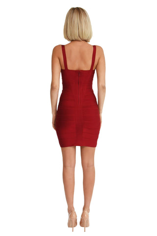 Holly Dress - Wine Red