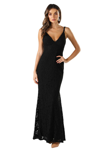 Ivana Lace Dress - Black