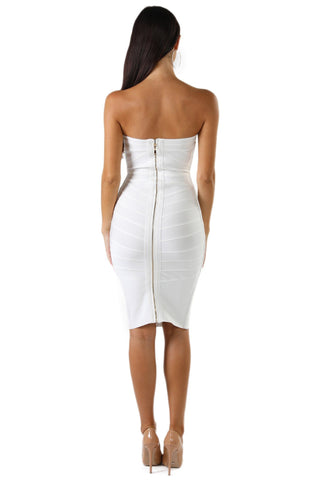 Jenna Dress - White