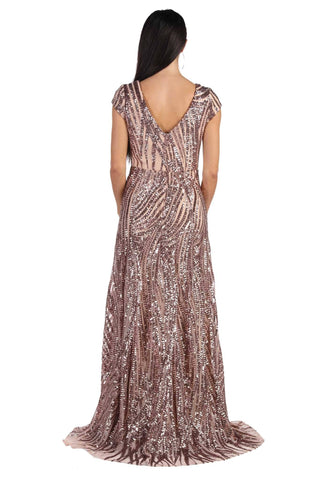 Joselyn Sequin Maxi Dress - Rose Gold