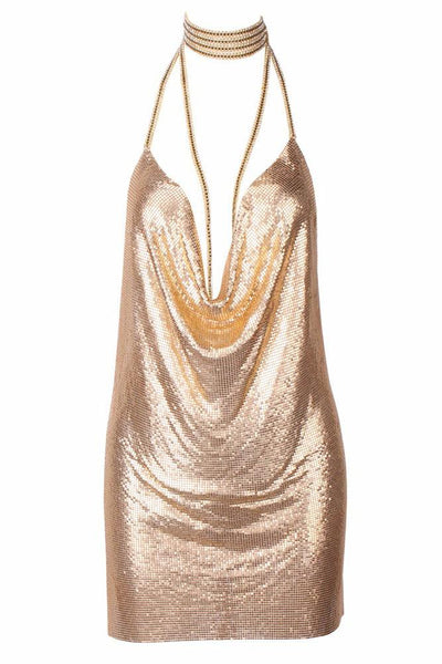 Kenny Mini Dress - Gold