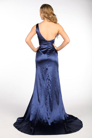 Kendra One Shoulder Satin Gown - Multiple Colors