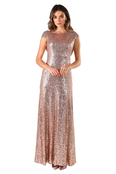 5f70f5f10d Kira Cowl Back Sequin Maxi Dress - Rose Gold ...