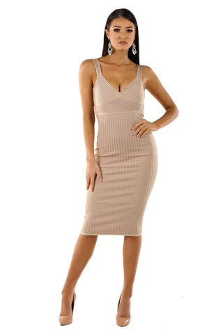 Lydia Dress - Dark Beige