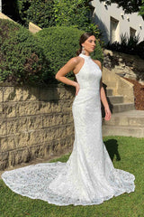 Liliana Lace Gown - White