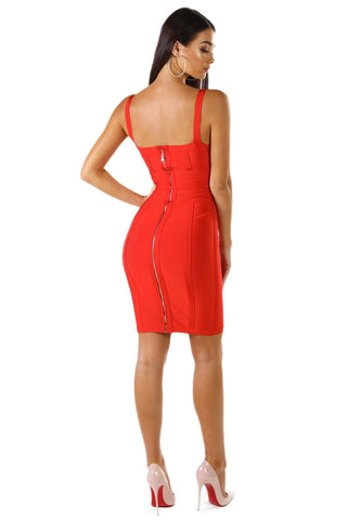 Luna Dress - Red