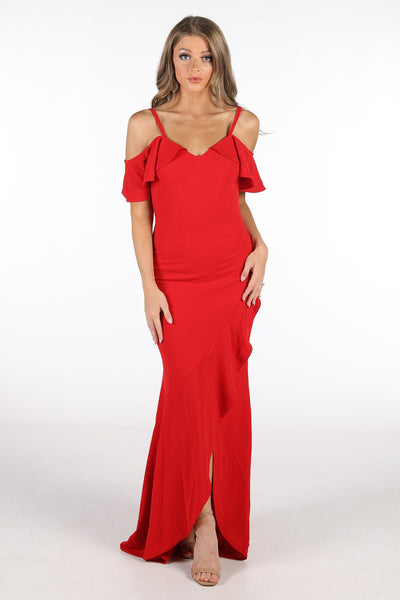 Maisie Maxi Dress - Red (Size S - Clearance Sale)