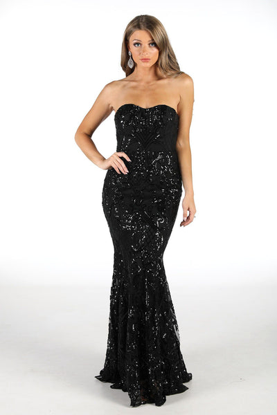 Margot Sequin Gown - Black