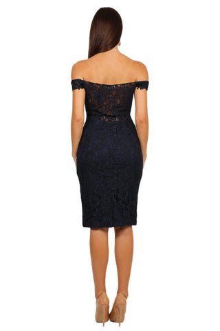 Mia Dress - Navy / Dark Blue