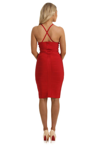 Miranda Two-Way Dress in Red