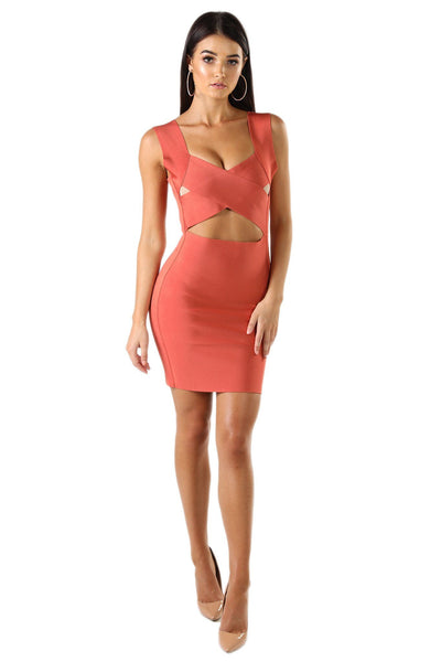 Naomi Dress in Salmon