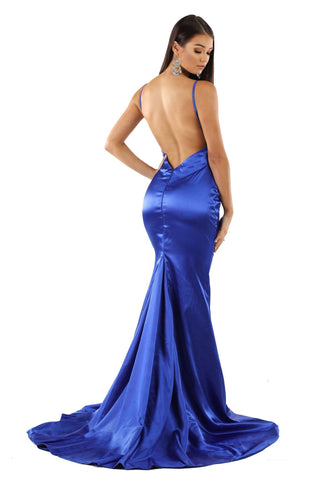 Penelope Satin Gown - Royal Blue