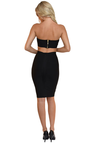 Paris Two-Piece Dress - Black
