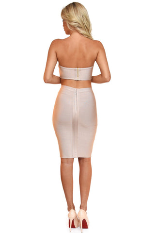 Paris Two-Piece Dress - Nude