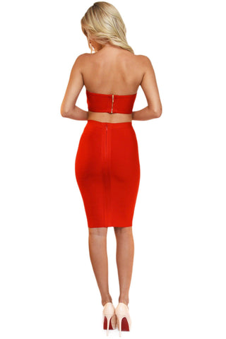 Paris Two-Piece Dress - Red