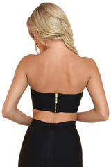 Paris Bandage Bandeau Top - Black