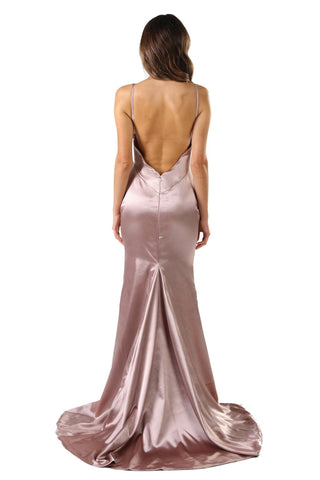 Penelope Satin Gown - Champagne