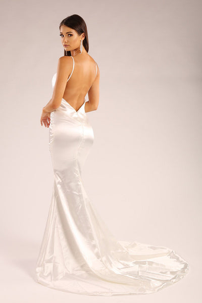 Penelope Satin Gown - Ivory