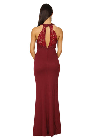 Priscilla Maxi Dress - Wine