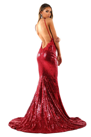 Roselle Luxe Gown - Wine Red