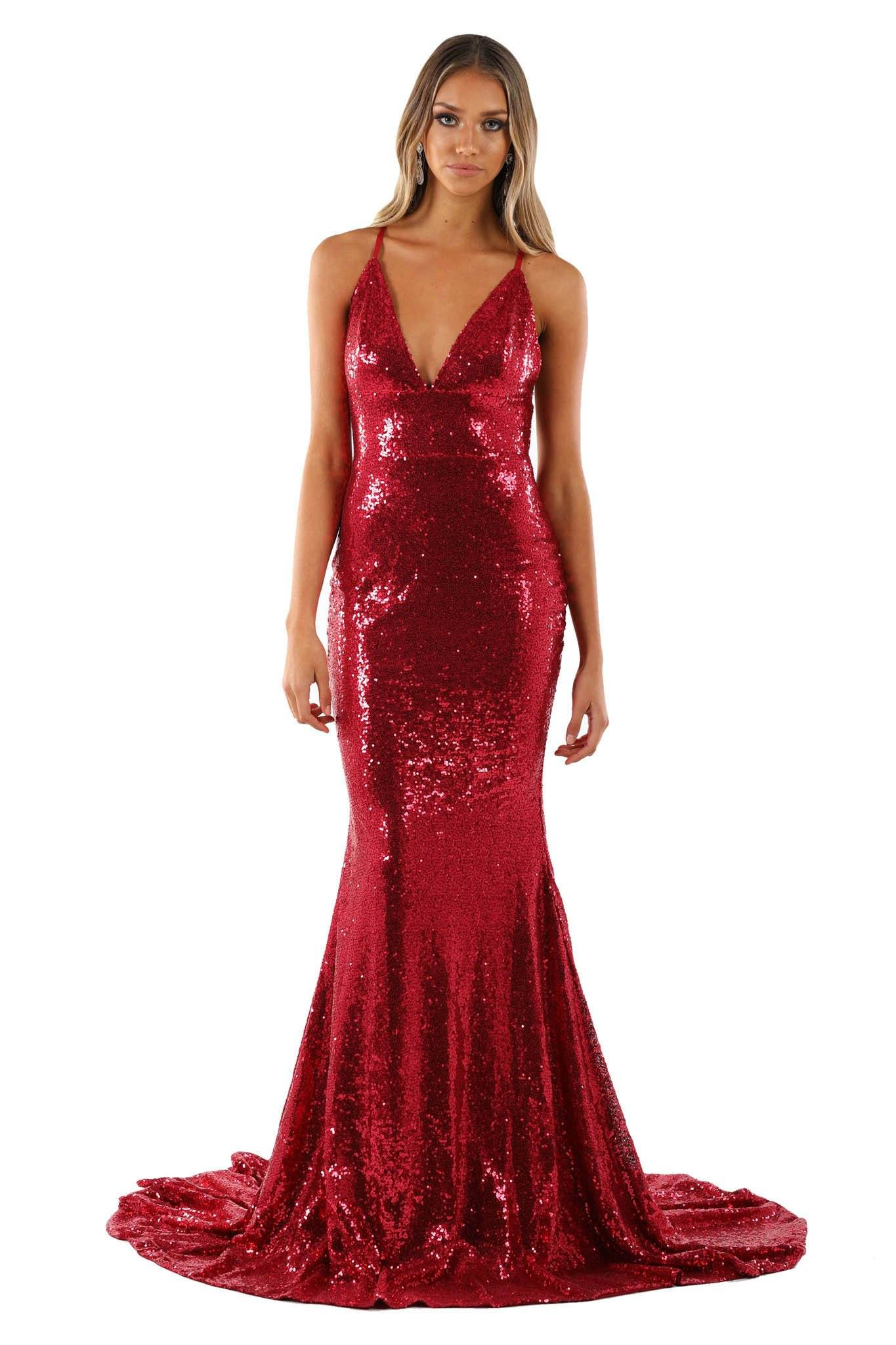 Roselle Gown - Wine