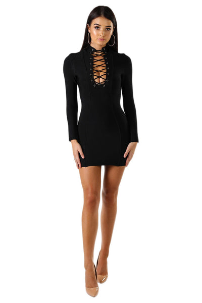 Regina Mini Dress - Black