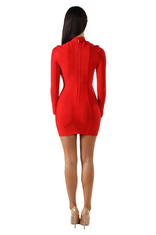 Regina Mini Dress - Red