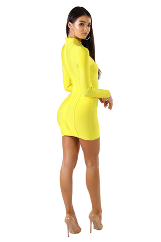 Regina Mini Dress - Yellow