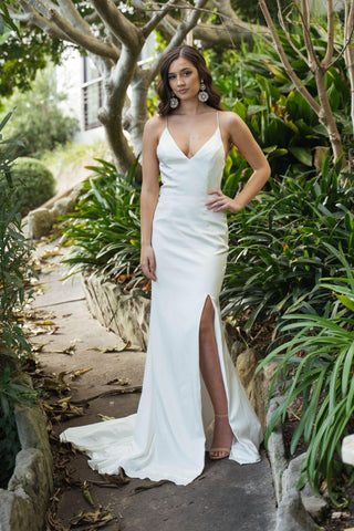 Rina Silk Gown - Ivory