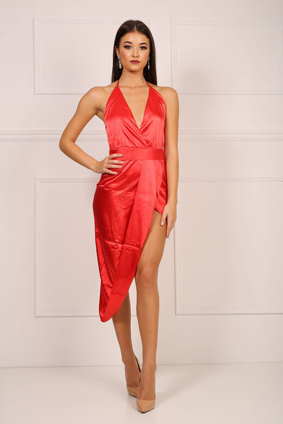 RiRi Silky Satin Dress - Red