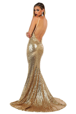 Roselle Luxe Gown - Gold