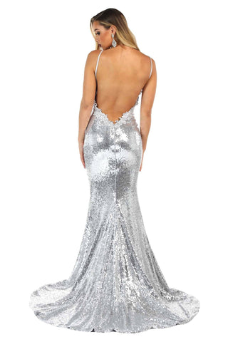 Roselle Luxe Gown - Silver