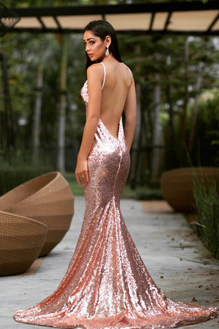 Roselle Luxe Gown - Rose Gold