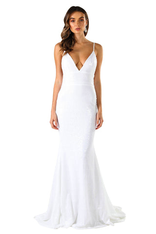 Roselle Gown - White