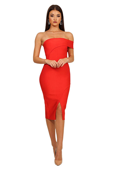 Sabrina Dress in Red