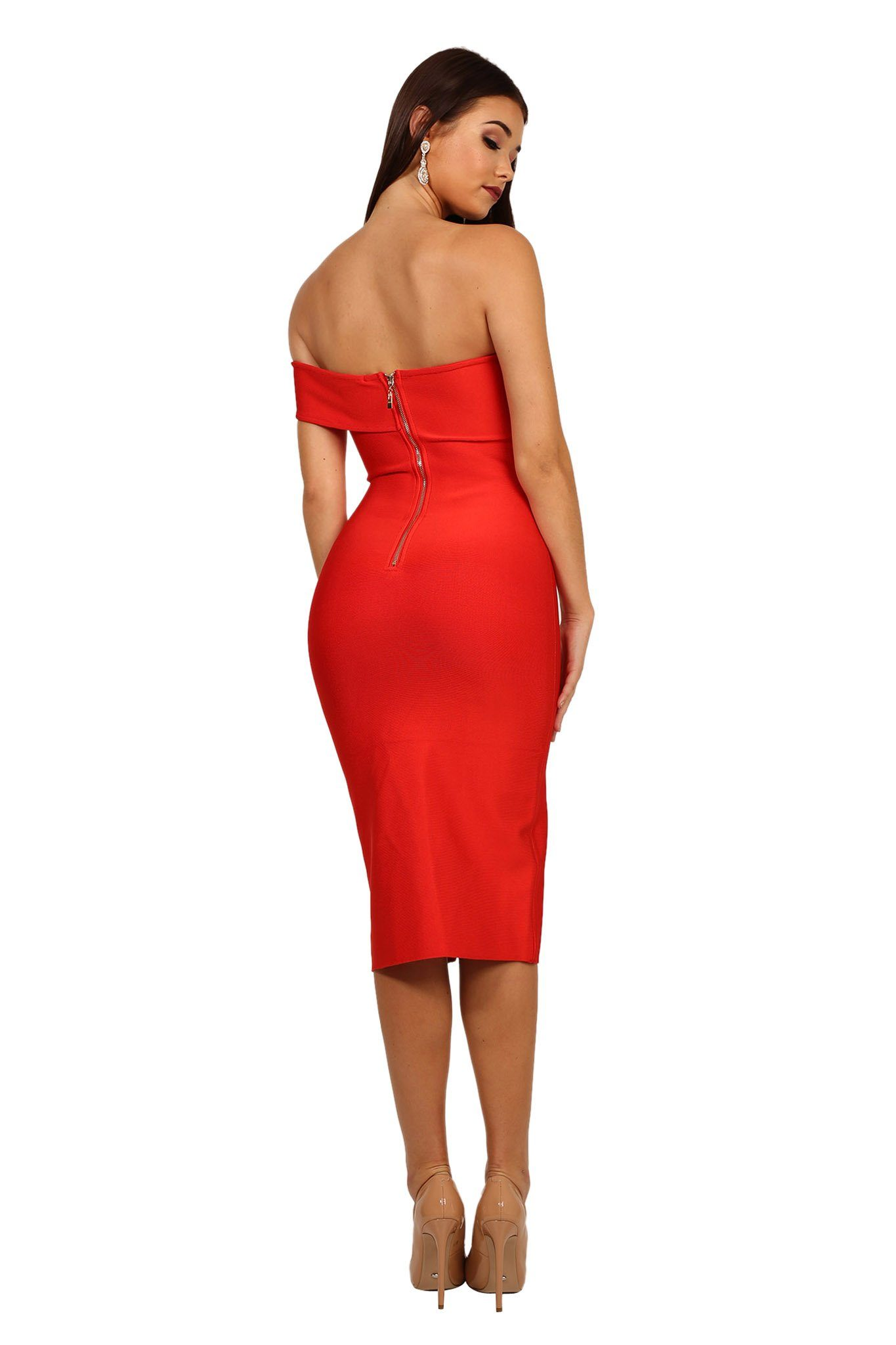 Sabrina Dress In Red Noodz Boutique