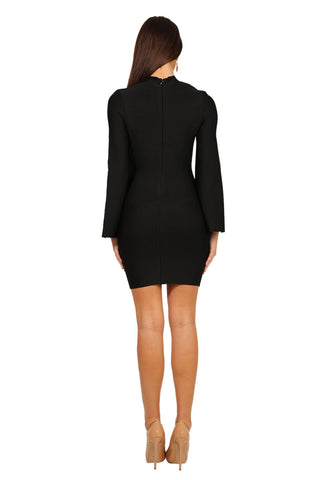 Salma Cape Dress in Black