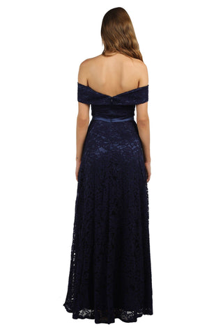 Shayna Lace Gown - Navy