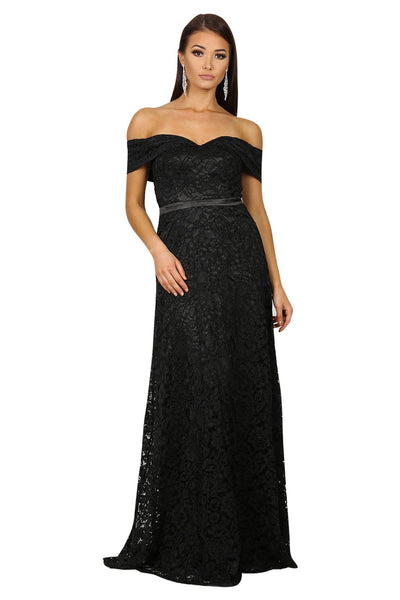 Shayna Lace Gown - Black
