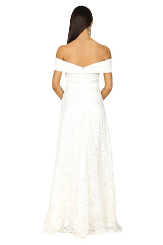 Shayna Lace Gown - White