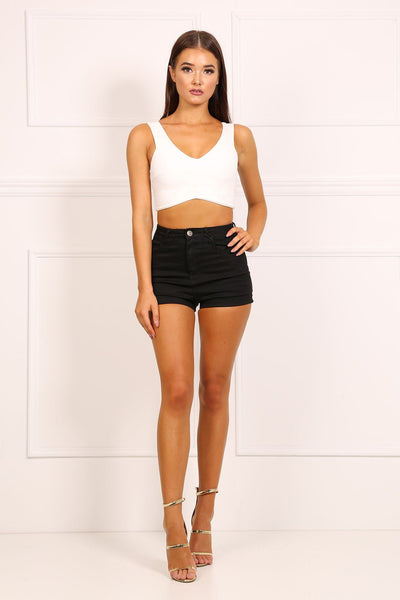 Amy High Rise Hotpants - Black