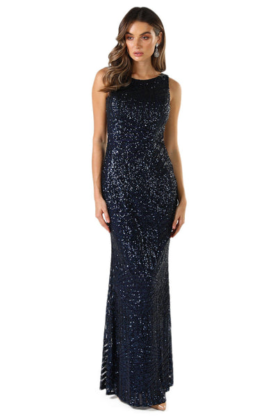 Sienna Sequin Dress - Navy