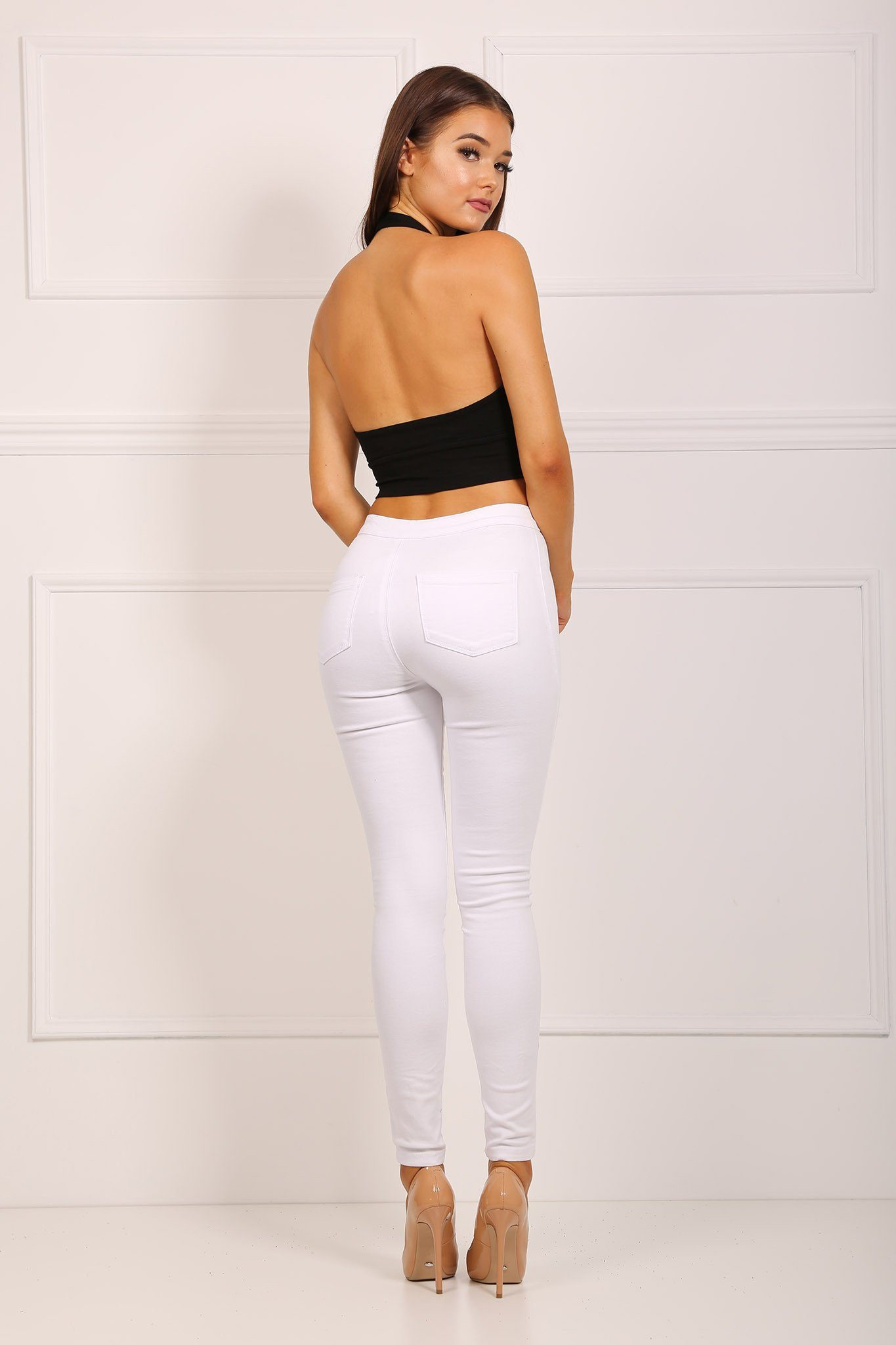 Burberry Westbourne White Skinny Fit Jeans - Lyst