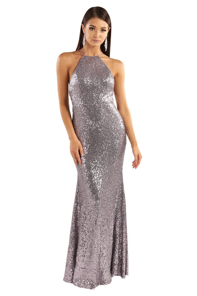 Stella Sequin Maxi Dress - Lilac