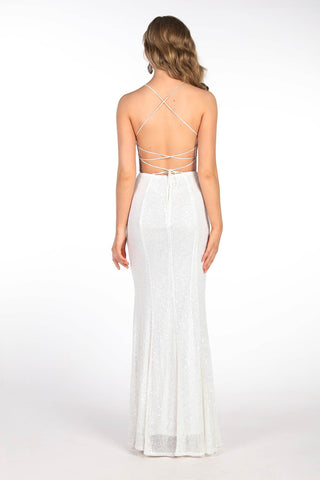 Tessa Sequin Gown - White