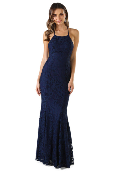 Vivian Lace Gown - Navy