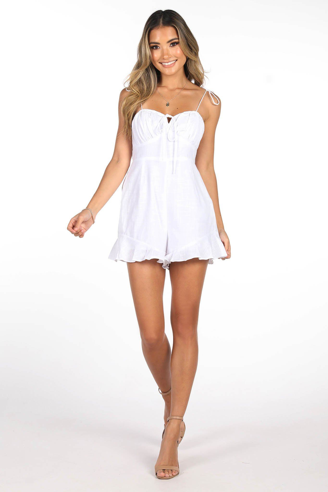 Faye Playsuit in White