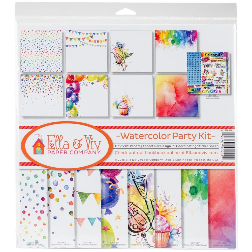 Ella & Viv Paper Company Collect Kit - Watercolor Party Kit