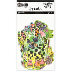 Dylusions Creative Diary Die Cuts Coloured Animals