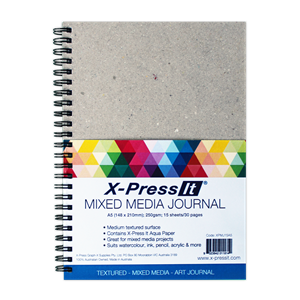 X-Press It Mixed Media Journal A5 30 Pages